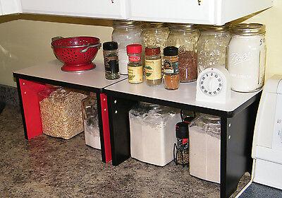 Kitchen Counter Shelf Organizer Modern Wood Storage Shelves Canister