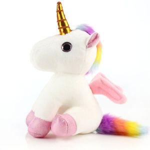 Rainbow Unicorn Stuffed Animal Plush Toy Gift for Girls Kids Birthday Christmas