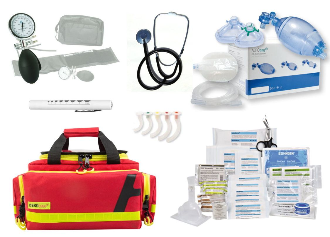 Notfalltasche AEROcase RBM gefüllt MED-Söhngen (Arzt Praxis Feuerwehr DIN 13157)