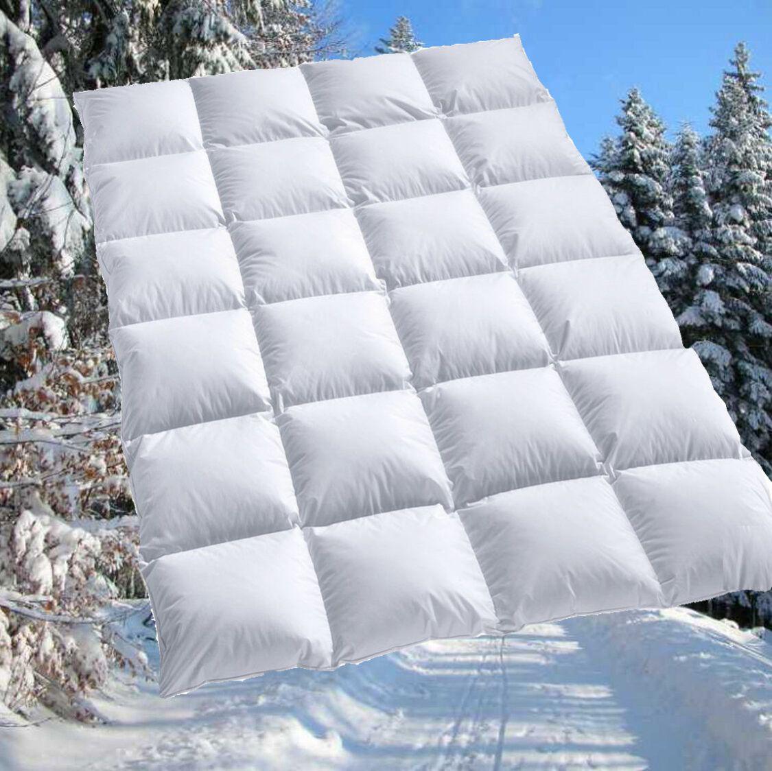 100% sibirische Daunen Bettdecke Daunendecke Daunenbett 155x220 für Allergiker