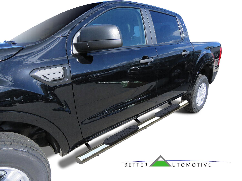 """2019 Ford Ranger Supercrew 4"""" Oval Chrome Side Steps"""