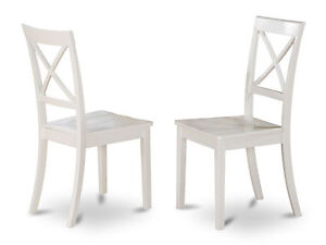 white x back chair koch barber set of 2 boston for dining room with wood seat ebay