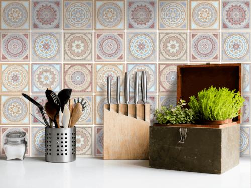 Fliesenaufkleber - Mosaikfliesen für Küche und Bad - Fliesenfolie Kacheldekor