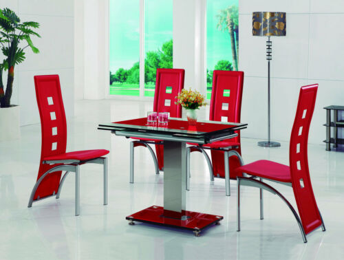 ENZA-EXTENDING-GLASS-CHROME-DINING-ROOM-TABLE-4-CHAIRS-SET-FURNITURE-IJ525-811