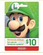 Nintendo gift card $10 USD eShop Switch 3DS WiiU New fast shipping