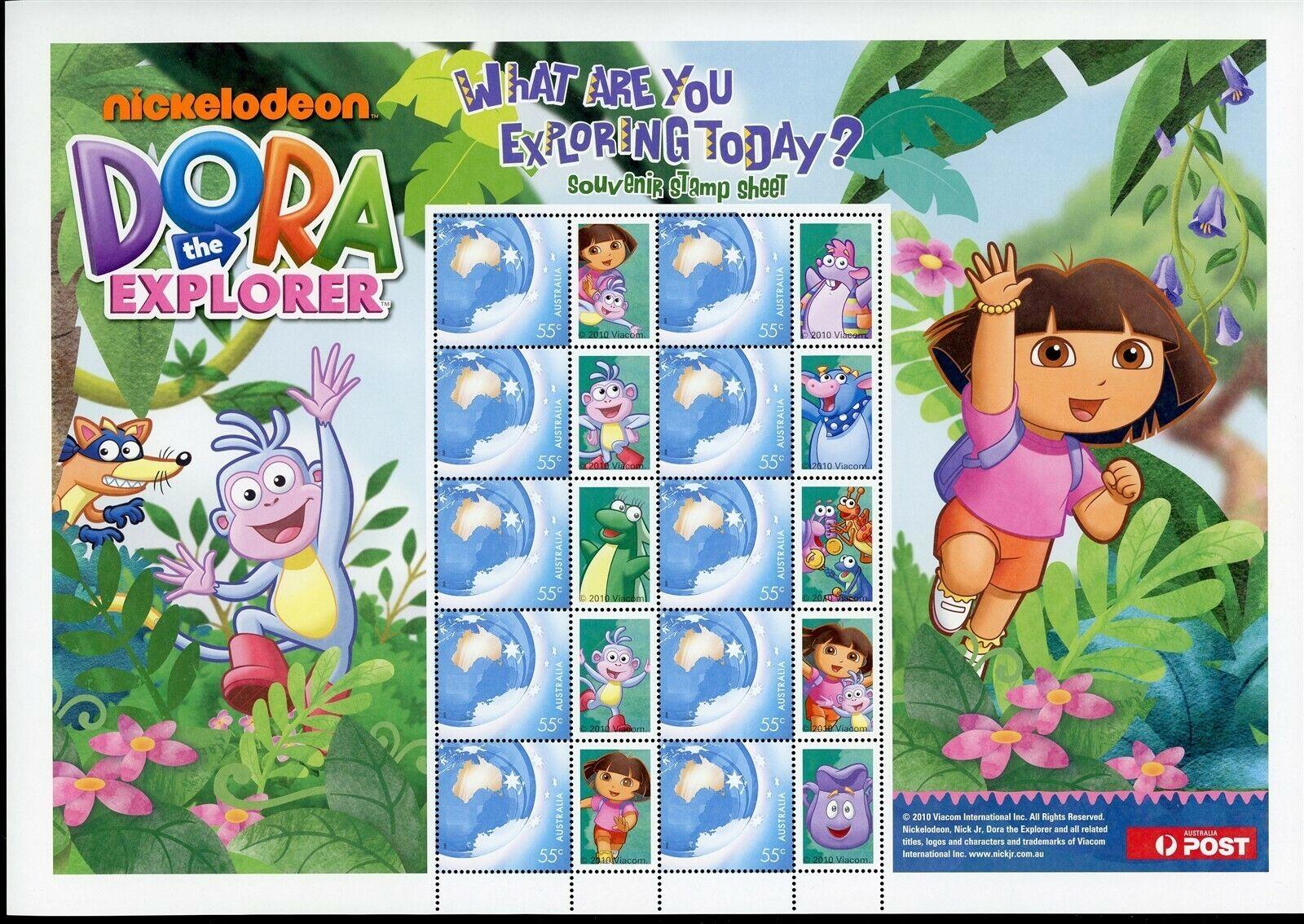 Australia Mnh Sheet Dora The Explorer Os 91
