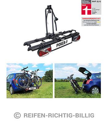 Eufab Fahrradheckträger für Anhängerkupplung Poker-F für 2 Fahrräder