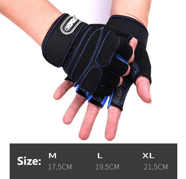 US Women/Men Gym Gloves With Wrist Wrap Workout Weight Lifting Fitness Exercise 2