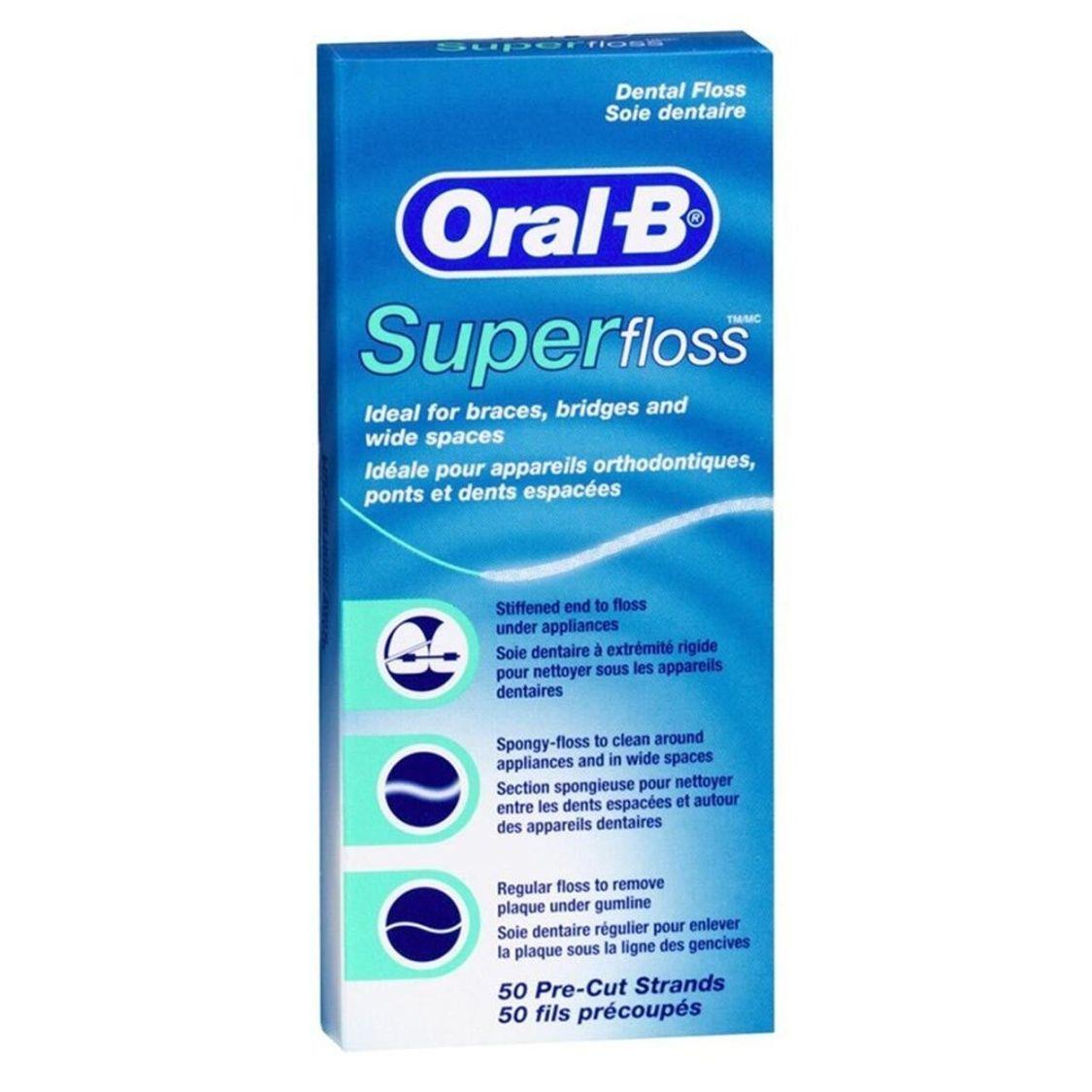 Oral-B Superfloss Zahnseide 50 Stück, 12er Pack (12x 50 Stück)