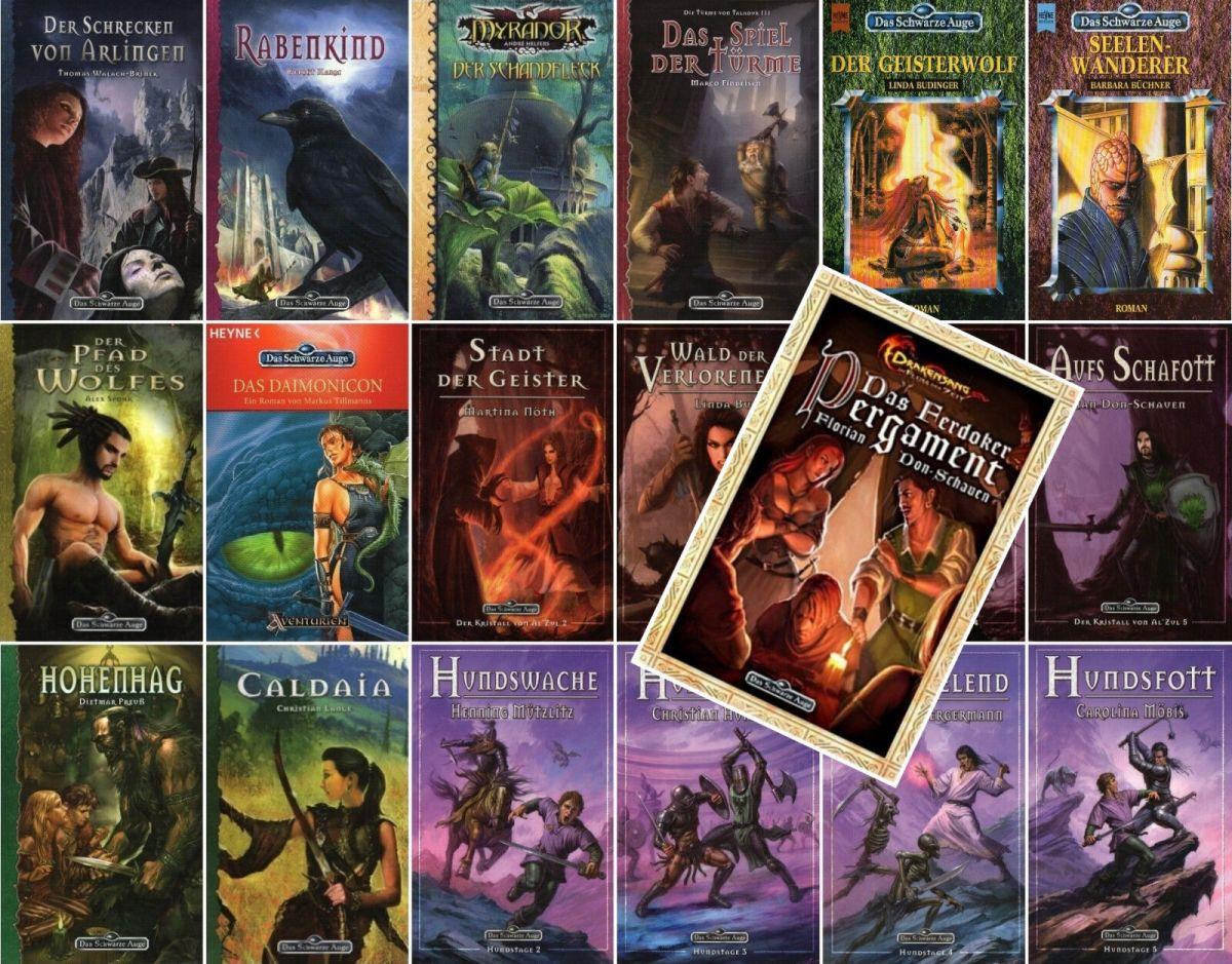 Bundle-19 x DAS SCHWARZE AUGE-DSA-DAS FERDOKER PERGAMENT-Abenteuer-Romane-neu