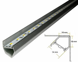BARRA LED IN ALLUMINO 12V ILLUMINAZIONE VETRINE CONTROSSOFFITTI LUCE CALDA 100cm  eBay