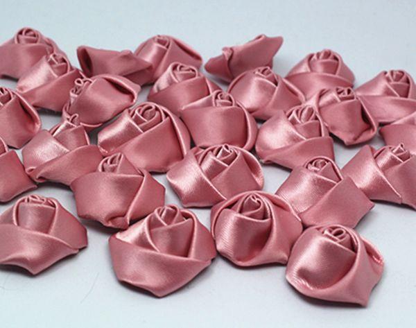 Diy 5 50 100pcs Satin Ribbon Rose Flower 25mm