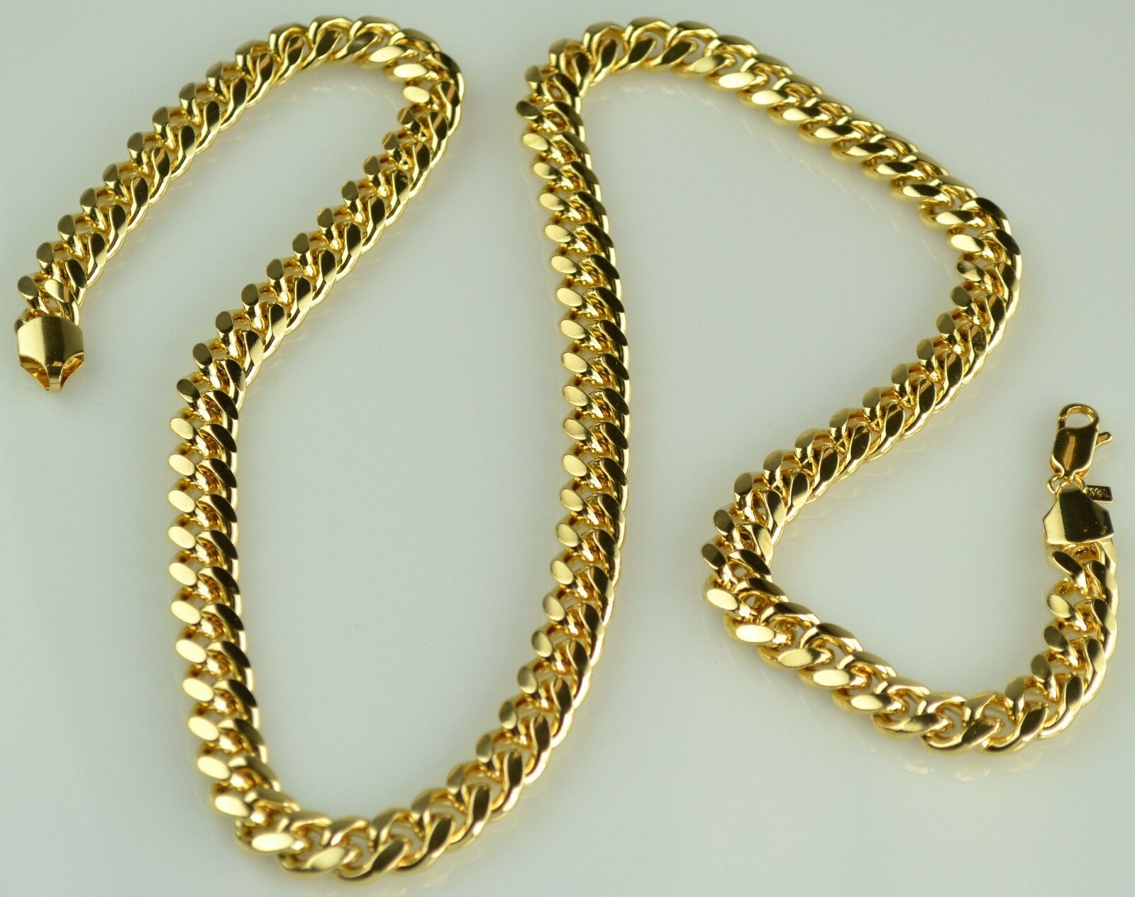 Solid Heavy 18K Gold Chain Necklace
