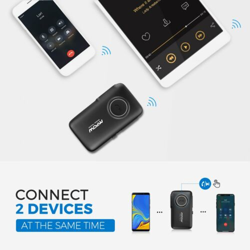 Mpow 3.5mm Bluetooth 5.0 AUX Audio Car Receiver Adapter w/Mic Home Stereo Music 8