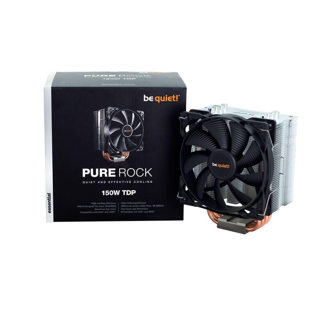 Be Quiet BK008 Prozessorlüfter PURE ROCK SLIM 120W TDP schwarz CPU INTEL AMD