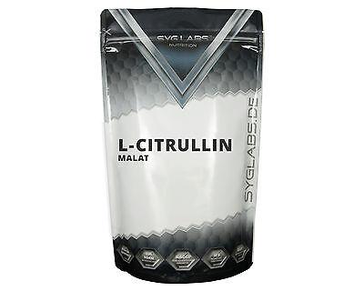 (3,79€/100g)SygLabs L-Citrullin Malat Pulver - 500g Citrulline Citrullin Pulver
