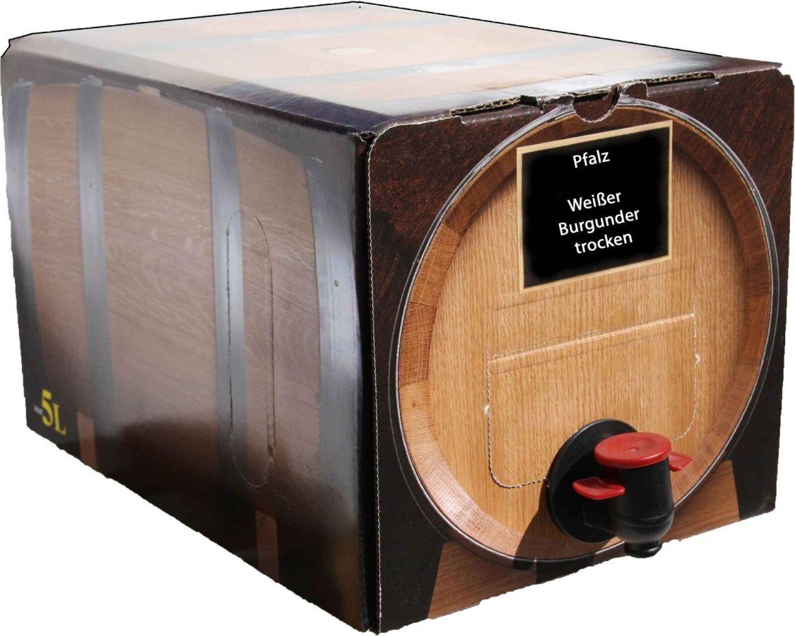 Pfälzer Weißer Burgunder Weißwein trocken 5l Bag in Box vom Winzer