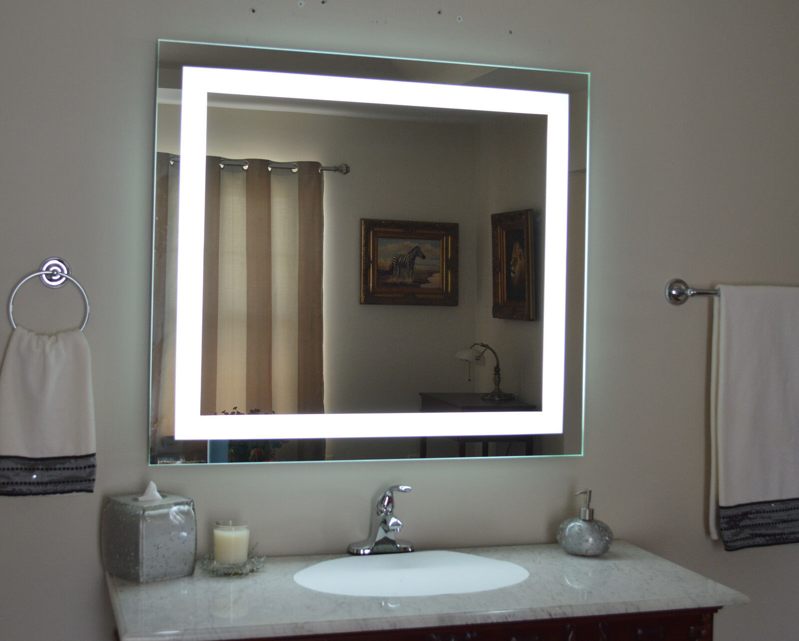 Lighted bathroom vanity mirror led  wall mounted 48 Wide x 36 Tall MAM84836  eBay