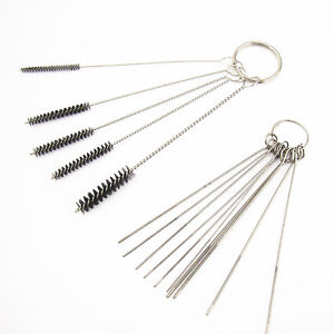 Carburetor Carbon Dirt Jet Remove 10 Cleaning Needles