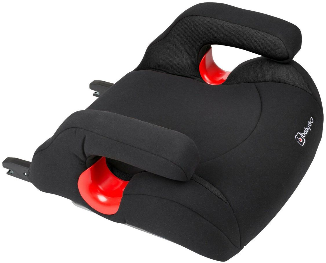 BabyGo Kinder Autositz Booster Bursa mit Isofix Sitzerhöhung ab 15 kg schwarz