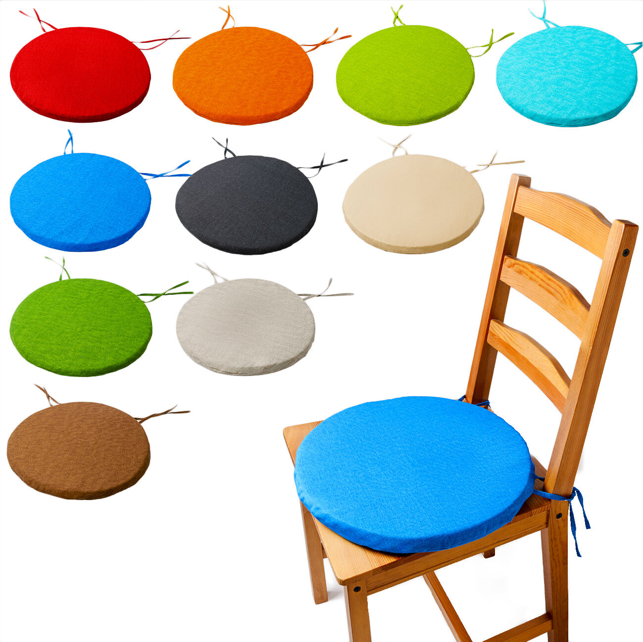 30cm Round Circular Chair Cushion Seat Pads Removable Cover Bistro Office Home For Sale Ebay