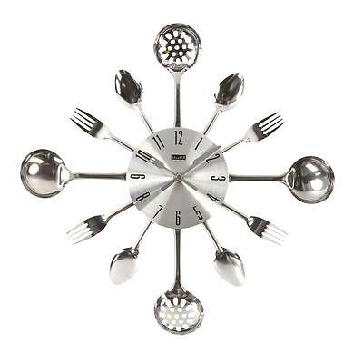 Küchen Wanduhr aus Metall in Besteckform / 40 cm / 776947 Balance