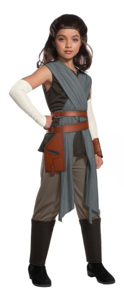 Rubies Star Wars Deluxe Rey The Last Jedi Child Girls Halloween Costume 640108 2