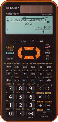 Sharp EL W531 XG YR Orange Schulrechner Solar Taschenrechner natürliche Anzeige