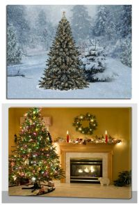 Christmas Decoration Light Up LED Canvas Wall Art Picture ...