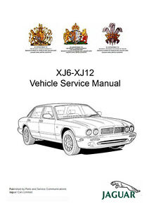 Jaguar XJ6 XJ12 X300 039 94 039 97 Workshop Service Repair