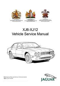 Jaguar XJ6 XJ12 X300 039 94 039 97 Workshop Service Repair