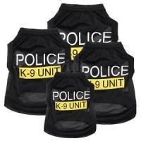 Dog Vest Police K-9 Unit Pet Puppy T-Shirt Coat Summer ...
