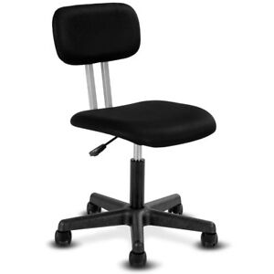 armless chair office sky stand ebay mid back mesh swivel height adjustable desk task