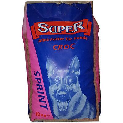 10 kg Super Sprint Alleinfutter für Hunde Croc Trockenfutter Hundefutter Ringe