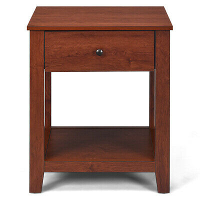 2-Set Nightstand Sofa Side Table Display Stand Multipurpose Bedside w/ Drawer 6