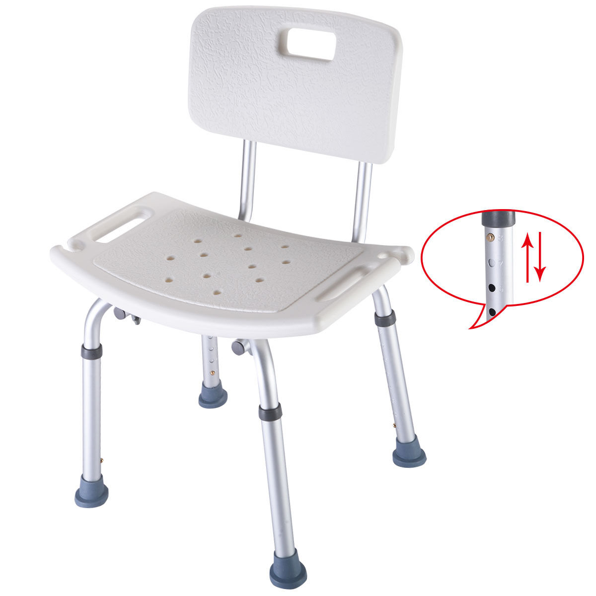 Adjustable Shower Chair 8 Height Adjustable Medical Shower Bath Chair Stool