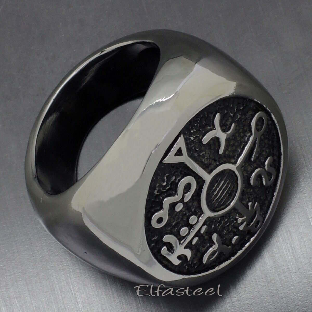 Mens Kabbalah Seal Of Solomon Magic 316l Stainless Steel