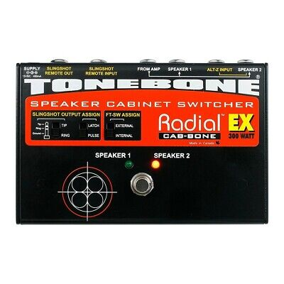 Radial Tonebone Cabbone EX Speaker Cabinet Switcher Pedal Guitar Amp Live *NEW*
