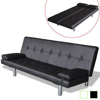 vidaXL Sofabett mit 2 Kissen Kunstleder Sofa Couch Schlafsofa mehrere Auswahl