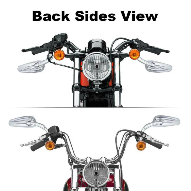 Chrome Black Motorcycle Side Mirrors For Harley Davidson