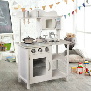 wood kitchen set prints childrens wooden ebay large kids play boys girls utensil toys white