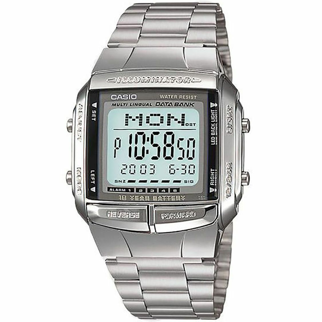 Casio Uhr DB-360N-1AEF Digital Armbanduhr Herren Edelstahl Silber Watch NEU & OV