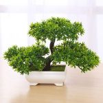 Artificial Bonsai Tree Green Plant Potted Simulation Pine Tree Home/Office Decor