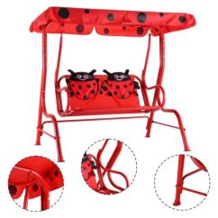 Swing Chair For 5 Year Old Sex Ikea Outdoor Kids Patio Porch Bench Canopy Ladybug Yard Suitable Child With Age From 3 To Years Specifications Color Red Material Fabric 210d Oxford Cloth Package Includes 1 X Children