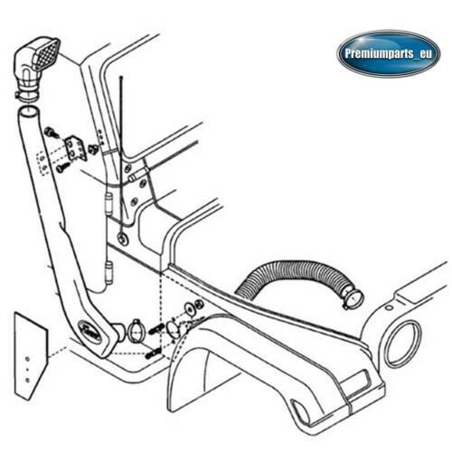 Intake System Snorkel Kit for Jeep Wrangler YJ TJ 1992