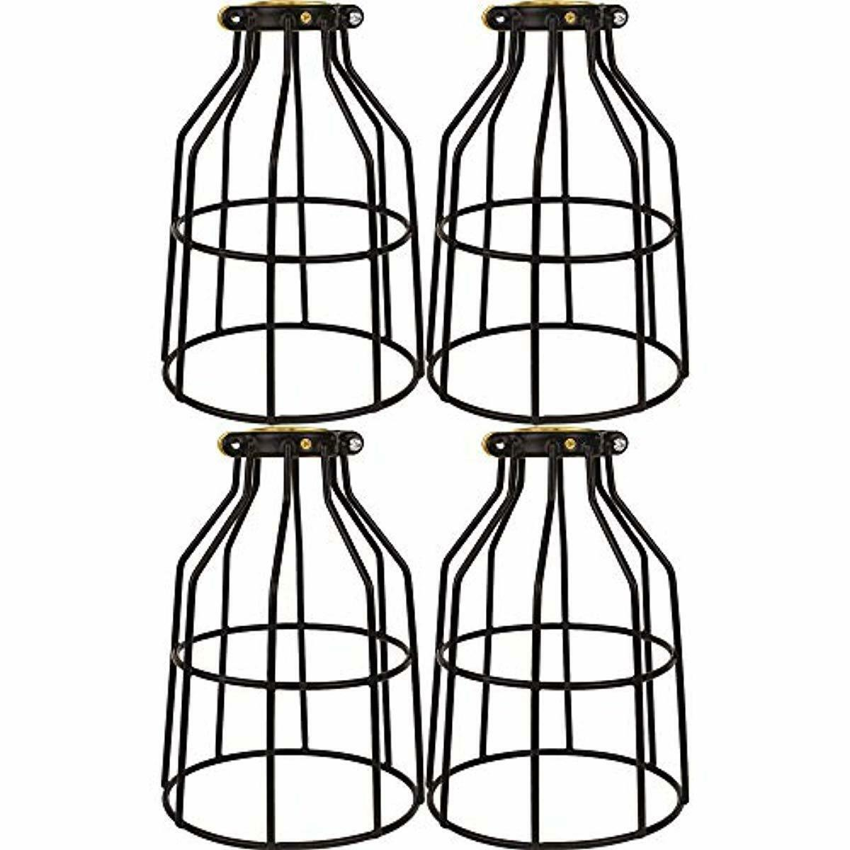 4x Metal Bulb Guard Wire Cage Pendant Lamp Shades Ceiling