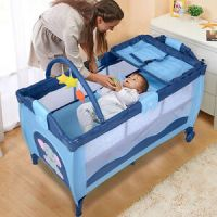 New Blue Baby Crib Playpen Playard Pack Travel Infant