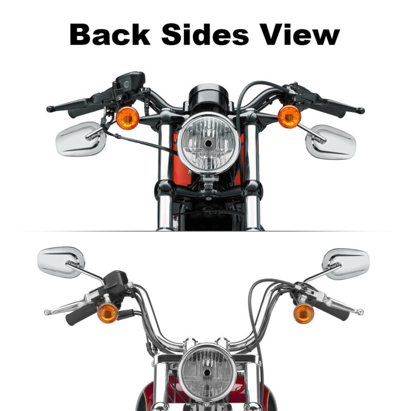 Chrome Rear View Mirrors For Harley Dyna Sportster XL