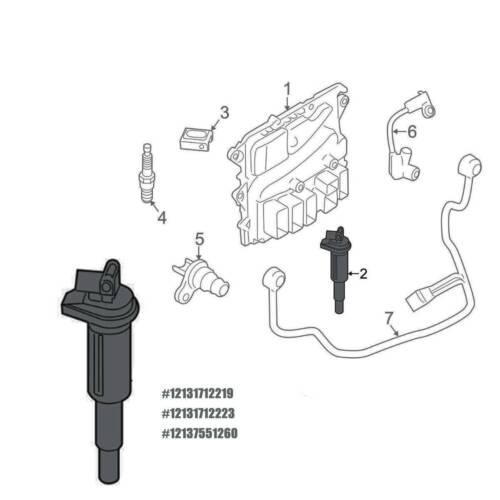 6x Ignition Coils for BMW E46 325 330 E60 525i 528i 530i
