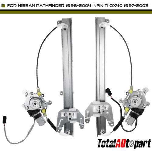 2x Rear Window Regulator w/ Motor for Infiniti QX4 97-03